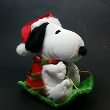 Dancing Snoopy Sled Christmas 2012 Animated Music Peanuts Stuffed Animal Gemmy