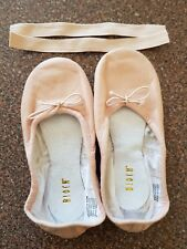 Girls brand new Bloch Prolite leather pink ballet shoes with elastics size 11D
