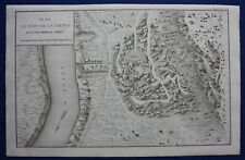 Original antique map ITALY, CASTEL SAN PIETRO, Napoleonic Wars, Tardieu, c.1824