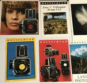 17 Lot Hasselblad Sales Brochures Photography Lens Advertising Booklets Guides