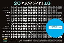 Moon Calendar Card Chart 2018 Astrology Wiccan Pagan Metaphysical Reference