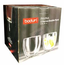 Set of 8 BODUM Pavina 250ML Double Wall Glasses Brand New