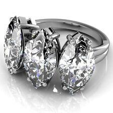 Three Stone GIA Certified 3.00 CT Engagement Ring Marquise Cut Diamond Platinum