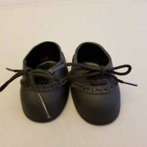 Fits Vintage Cabbage Patch Kid Doll Shoes Black with laces Vintage THT 1992