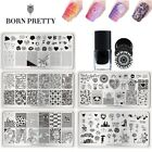 2Pcs/Set Born Pretty 6ml Stamping Polish Valentine's Day Stamp Plates Nail Tool