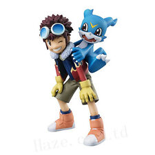 Digimon Adventure 02 Motomiya Daisuke & Veemon PVC Figura Modelo Juguete 10cm