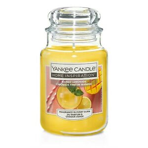 YANKEE CANDLE HOME INSPIRATION MANGO LEMONADE LARGE JAR. Tropical peach fruity