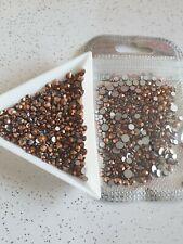 Nail Art Rose Gold Flatback Gems Bling Rhinestone Crystals Mixed Size