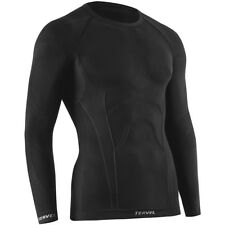 Tervel Comfortline Shirt Underwear Mens Long Sleeved Thermo Base Layer Top Black
