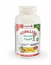 Nopalina Flax Seed Plus Fiber 240 Cap & Samples Lot#26.19.3C40#02   Exp 11/15/21