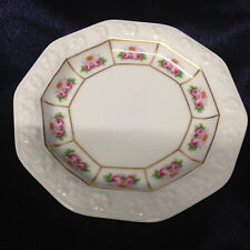 "ROSENTHAL GERMANY CLASSIC ROSE MARIA COASTER 4"" PINK ROSES EMBOSSED"
