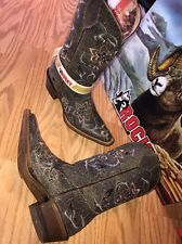 """Rocky Boots Western Cowgirl Hand Hewn Gray 12"""" Shaft Women's 9.5 M 5234 Graphite"""