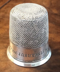 """German H&R 835 Sterling Silver Only a Thimble Full Shot/Jigger/Cup 2"""" 35.3g"""