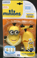 MINIONS -Artic Kevin/Banana 3IN1, Build-a-minion Poseable Deluxe Action Figure