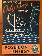 Tin Sign Vintage Fallout Poseidon Energy Begin Your Odyssey With Us