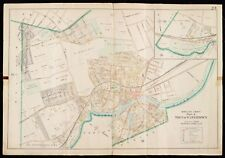1900 MIDDLESEX COUNTY, MA, WATERTOWN, SALTONSTALL PARK, COPY PLAT ATLAS MAP