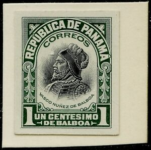 PANAMA #197P3 XF-SUPERB ABNCo PLATE PROOF ON INDIA PAPER (EX-GREEN) BQ3990
