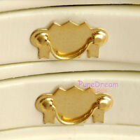 Dollhouse Furniture Hardware Brass Drawer Handle Pull 2pcs OA00612