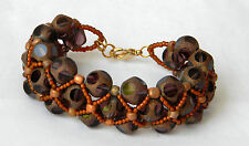 Glass Leopard Print Bracelet One of a Kind Made in the USA FREE SHIPPING
