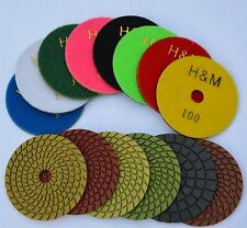 "5"" Pro WET/DRY Diamond Polishing Pad 10 pads in 50 Grit"