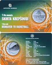 Lituanie coincard 2011  neuf  1 litas Basket ball