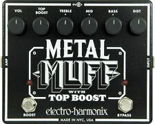 Electro-Harmonix Metal Muff Distortion with Top Boost Guitar Effect Pedal +Picks