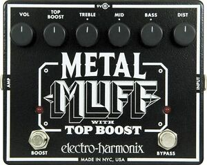 Electro-Harmonix Metal Muff Distortion with Top Boost Guitar Effect Pedal