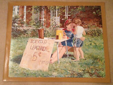 """AUTHENTIC ARTAGRAPH OIL PAINTING """"LEMONADE STAND""""BY M. KEIRSTEAD,SIGNED 74/1000"""