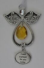 j I said a prayer for you Angel charm Ornament bead encouragement faith car