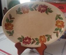 """Shenandoah Ware 11.5"""" Oval Platter Paden City Pottery Made in USA, Under Glaze E"""