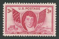 Francis Scott Key The Star Spangled Banner Fort McHenry War of 1812 Stamp MINT!
