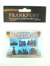 Frankfurt Magnet Roman Premium Souvenir Germany Laser Optics, New