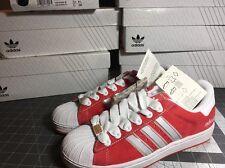 NIB ADIDAS 465417 Adicolor Superstar II Red R5 Suede US Size 8.5