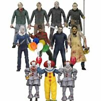 """Neca 7""""Scale Action Figures Friday The 13th Leatherface Chainsaw Freddy toy *"""