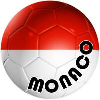 decal sticker car bumper flag team soccer ball foot football monaco