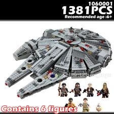 Building Blocks Set Star Wars Millennium Falcon Model Force Awakens Kids DIY Toy