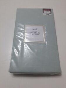 brand new Double light green flat sheet from Dunelm