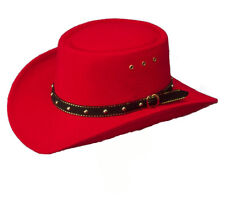 Kids Wild Western Red Cowboy Gambler Hat - Boys Girls Childs USA Stetson