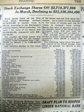 1931 NY Times newspaper with news from the VERY DEPTHS of the GREAT DEPRESSION