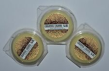 LOT OF 3 BATH BODY WORKS CINNAMON CARAMEL SWIRL WAX MELTS TART WHITE BARN CANDLE