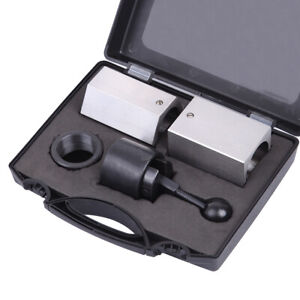 5C Collet Block Set Square Hex Rings & Collet Closer Holder Kit with Case