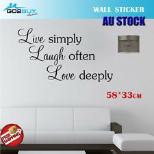 Wall Stickers Removable Love Laugh Live deeply Living Study Room Decal Picture
