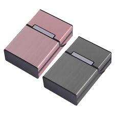 Neu Zigarettenbox Zigarettenetui Alu Edel Aluminum Tabak Halter Zigarettendosen