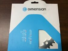 Dimension 36t x 110mm Middle Chainring Silver, 5 bolt