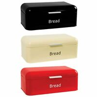 Curved Bread Bin Steel Kitchen Top Storage Roll Loaf Box New By Home Discount