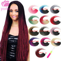 "24"" Ombre Senegalese Twist Braids Synthetic Thin Crochet Braiding Hair Extension"