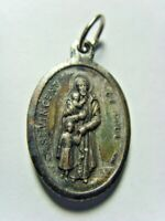 antique catholic faith Saint Vincent de Paul Saint Catherine pendant 50515