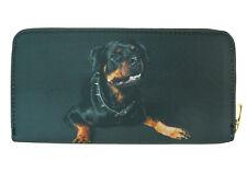 Dog Wallet - Rottweiler on both sides - Black