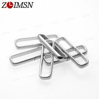 10pcs S/Steel Silver Rings Nylon Watch Band Strap Circle Buckle 18 20 22 24mm