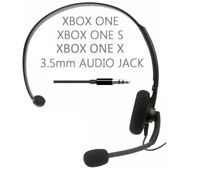 GENUINE XBOX ONE S X CHAT HEADSET + Mic Gaming Headphones 3.5mm NEW **CHEAPEST**